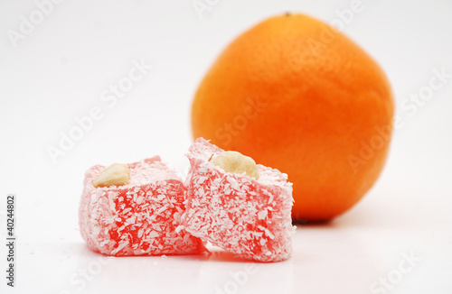 lokum and orange