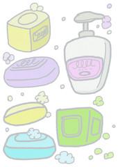石鹸でしっかり手洗い