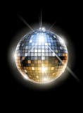 mirror disco ball vector illustration EPS10. Transparent
