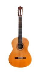 retro guitar isolated on white