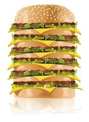 Schnellimbiss - Fastfood - XXL Hamburger Burger 1