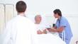 Patient listening to his doctors