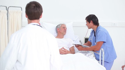 Patient listening to his doctors