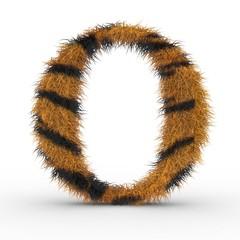 Texteffekt Haare Tiger O