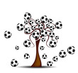 Tree with footballs