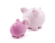 Two piggy banks with clipping path