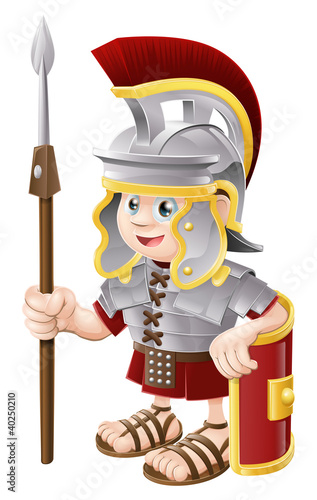 In de dag Ridders Cartoon Roman Soldier