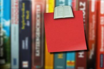 Notiz und Bücher