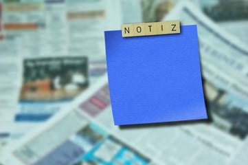 Notiz und Zeitung