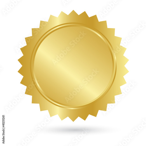 Blank Golden Guarantee Label