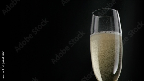 Champagne in super slow motion