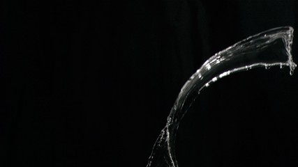 Splash of water in super slow motion