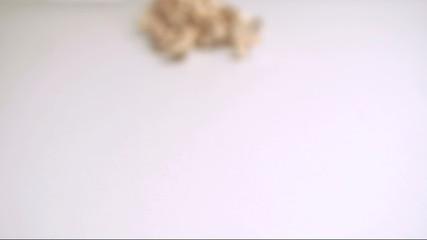 Cashew spread in super slow motion
