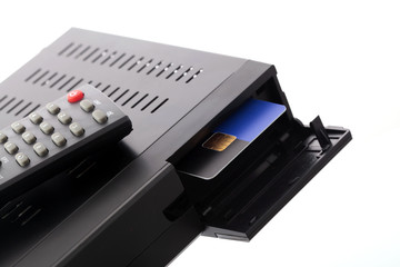 Slot for smartcard in satellite receiver