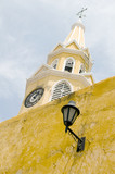 clock tower the wall walled city Cartagena Colombia South Americ poster