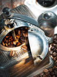 Fototapety Coffee grinder and coffee beans