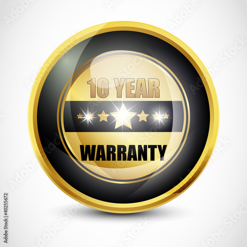 Ten Year Warranty Button