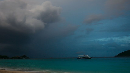 Evening on the ocean from Similan island.
