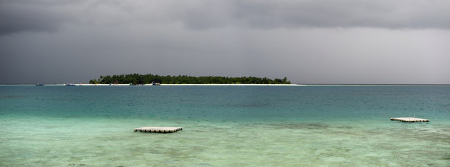 Storm at Maldives