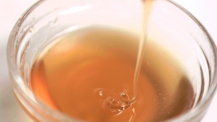 Honey being poured in super slow motion