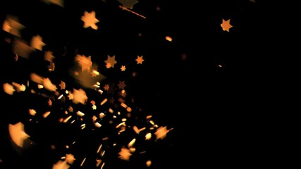 Six-pointed stars flowing in super slow motion