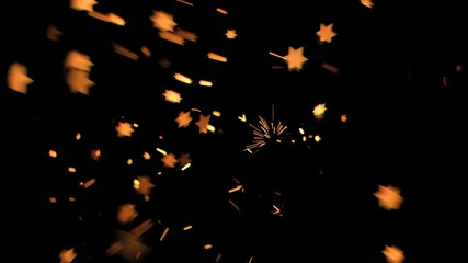 Nice six-pointed stars shining in super slow motion