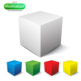 Fototapety Cube on a white background