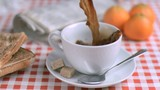Breakfast being served in super slow motion
