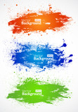 Fototapety Vector colorful grunge banners on white background
