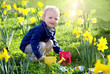 child within flowers