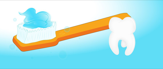 Toothbrush and Tooth Vector