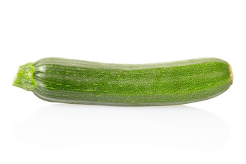 zucchini courgette on white, clipping path included