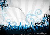 Fototapety party background and floral design