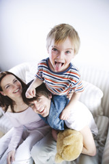 Parents enjoying with son, smiling, portrait