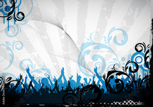party background and floral design