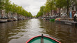 Amsterdam Canal from Boat on Canal