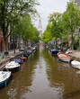 Amsterdam Canal and Church Portrait