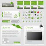 Vector website elements - Elementi per siti web - Verde
