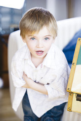 Boy looking, portrait