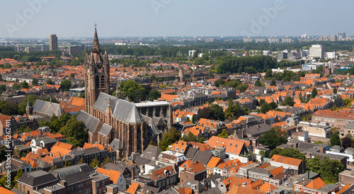 Delft Old Church from above