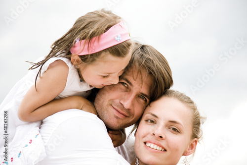 Parents with daughter