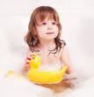 baby taking a bath