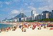 Beach Leme and Copacabana in Rio de Janeiro