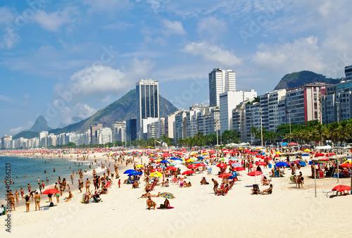 Poster Beach Leme and Copacabana in Rio de Janeiro