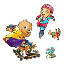 ローラースケート02
