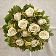 pale white roses, natural background