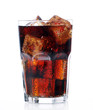 Fresh cola drink in glass