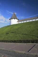 Southwest round tower. Kazan kremlin. Tatarstan.