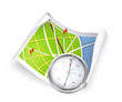 Road Map and compass