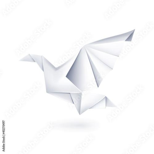 Paper dove, origami - 40270497